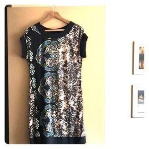 Fun Tiana B travel dress! Paisley leopard print!